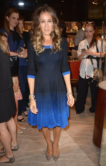 Katılır Out Sarah Jessica Parker Moda Gecesi for New York Fred Leighton Butik