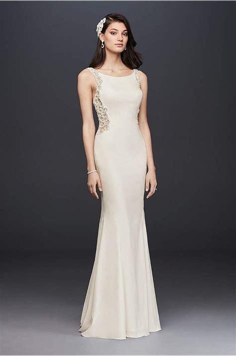 White by Vera Wang Halter Sheath Wedding Dress   David's