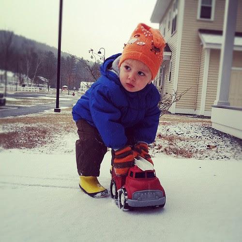Snow play.