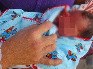 Bebê está sendo chamado de 'David Luiz' (Foto: Divulgação/ Blog Conexão Cumaru)