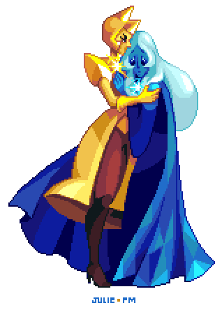 Yellow and Blue Diamond. A gift for the darling Mari Black ♥