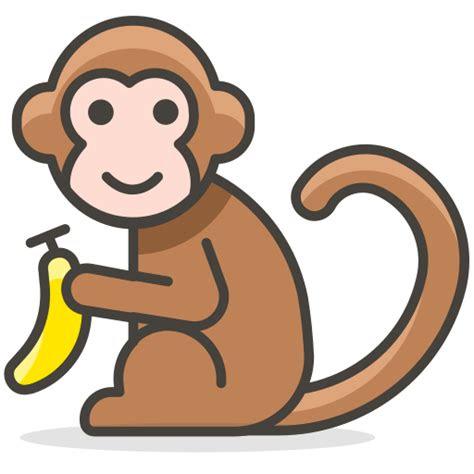 monyet hewan ikon gratis   emoji icon set