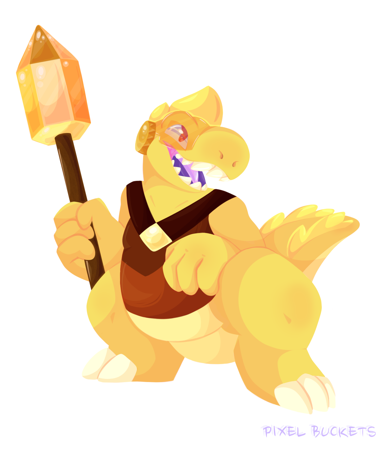 """. • ° *✨DINO-PAZ✨ * ° • .""""This was a silly idea I got while listening to Volcano, it started as a dumb quick doodle that I grew up liking a little way too much. I've worked on it for 3 days and in all..."""