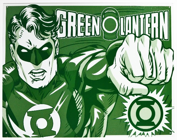 The Green Lantern Tin Metal Sign DC Comics Comic Book Hero Justice League