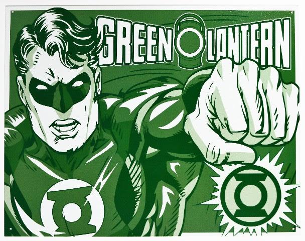 The Green Lantern Tin Metal Sign DC Comics Comic Book Hero ...