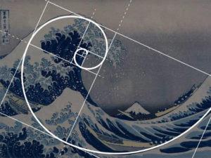 Hokusai spirale aurea onda