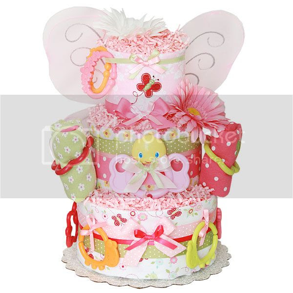 Summer Bugs Butterfly Diaper Cake