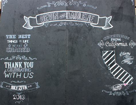 Chalkboard photo booth background for a wedding. This