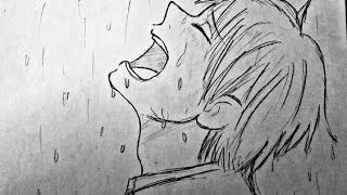 رسم انمي حزين