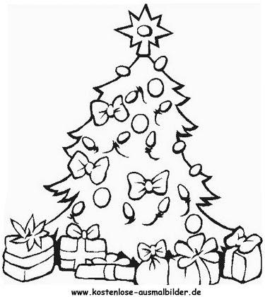 Ausgezeichnet Weihnachtsbaum Lichter Malvorlagen Zeitgenössisch ...