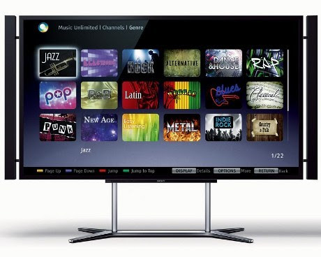 televisi canggih Sony KD-84X9005 oleh segiempat