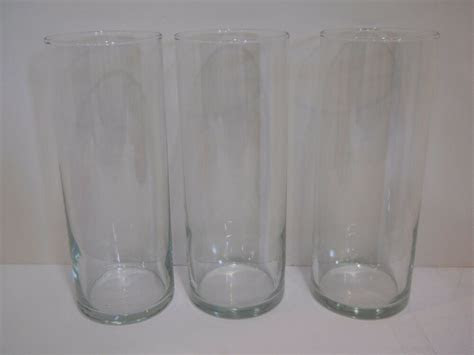 clear glass cylinder tealight candle holders wedding