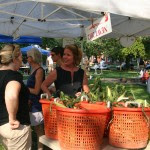 First Lady Carla Markell visits the Cool Spring Farmers' Market.