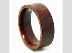 Rosewood Flat Band Mens Ring