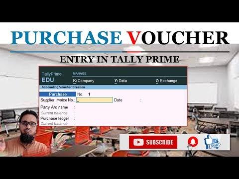 Purchase Voucher Entry in Tally Prime | टेली प्राइम में परचेज वाउचर एंट्री कैसे करें