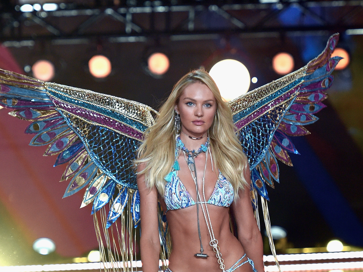 Candice Swanepoel showed off her wings.