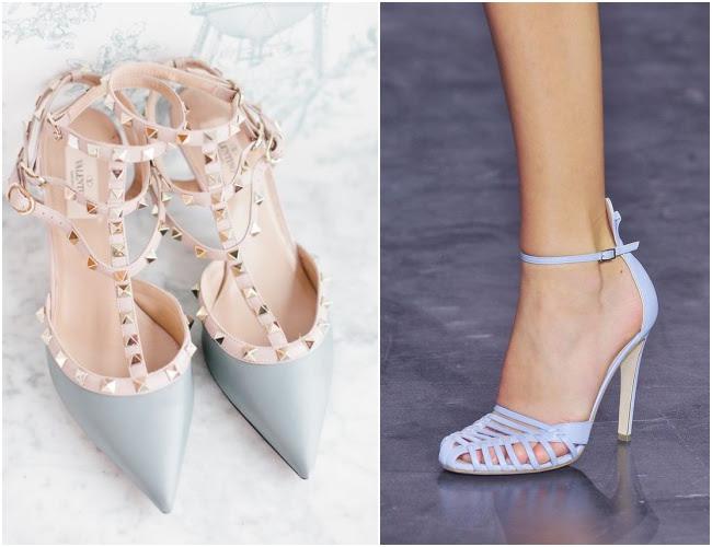 Resultado de imagem para sapato azul claro