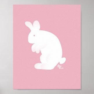 Pink Bunny Print zazzle_print