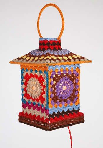 moschino granny square lamp Designer Crochet: Franco Moschino