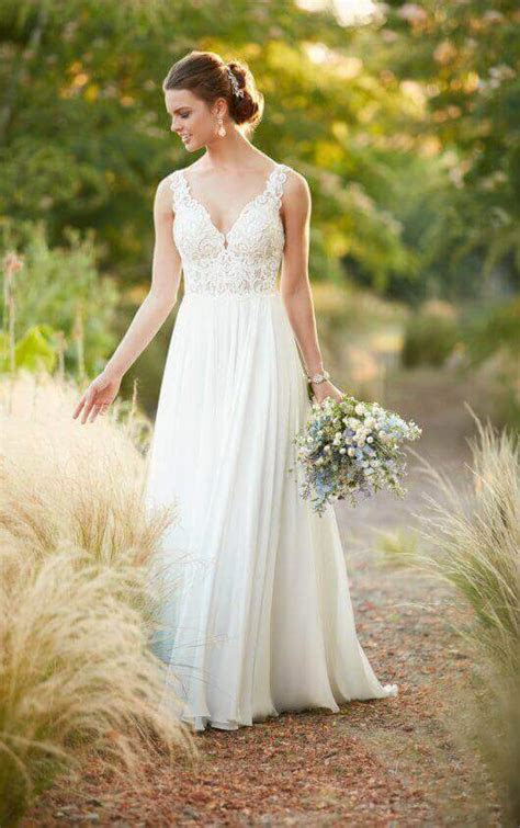 chiffon sheath wedding dress essense  australia