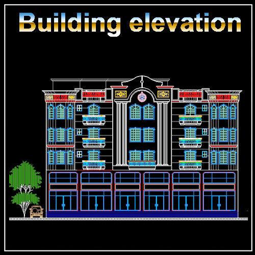 Building Elevation 1  CAD Design Free CAD Blocks