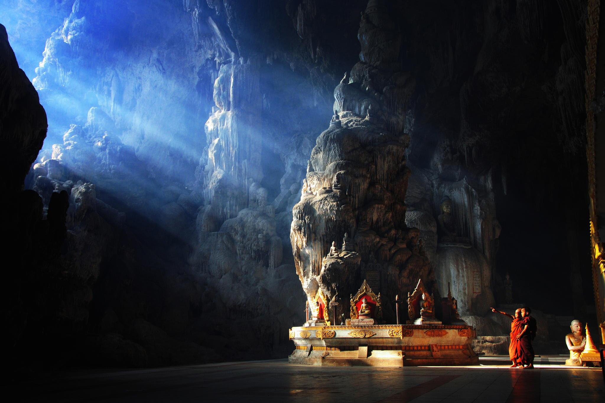 buddhist cave temple burma