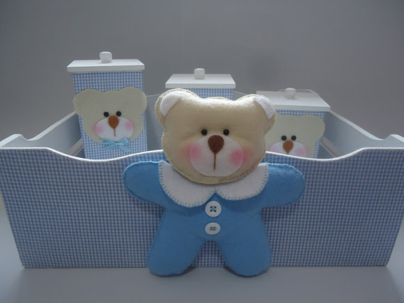 Kit Higiene Urso Macacão