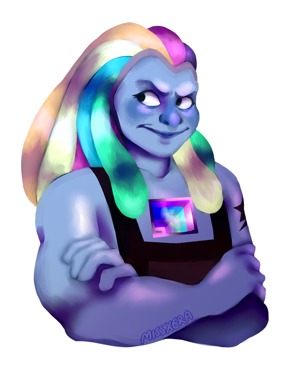 Bismuth!! Aka. Blueberry rainbow mom!!!