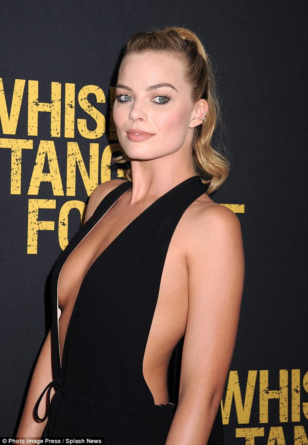 Not shy: She showed off plenty of cleavage