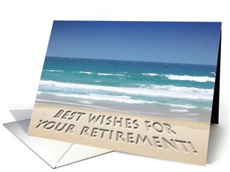 Tropical beach   retirement best wishes card (168465)
