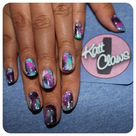 kattclaws diy galaxy vans  galaxy nails  fuck