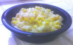 recipe: creamy corn and garlic risotto