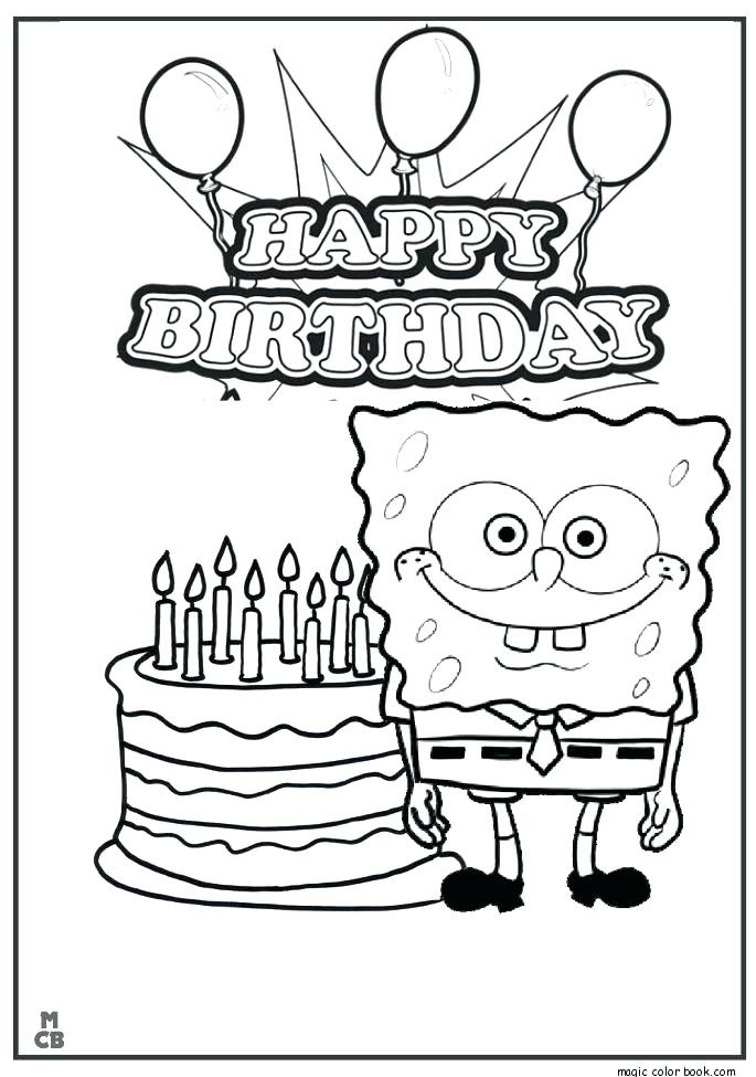Happy Birthday Printable Coloring Pages at GetColorings ...