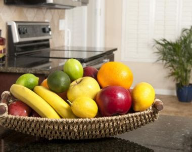 Keep you and your family slim by ensuring the only food on your counter is fruit in a fruit bowl. Photograph: Thinkstock