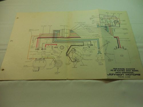 Purchase 1969 Johnson 40hp Outboard Wiring Diagram Vintage Electric Js 4336 Boat Motorcycle In Keokuk Iowa United States For Us 5 99
