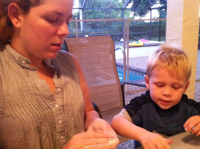 Making Salt Dough Ornaments with Aunt Sally