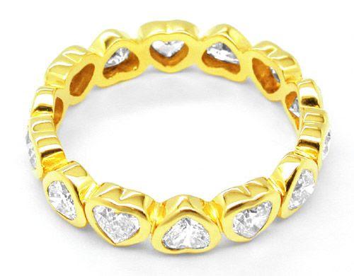 Foto 2, Neu! 2ct-Herz-Diamanten!!! Memory-Ring Luxus! Portofrei, S8490