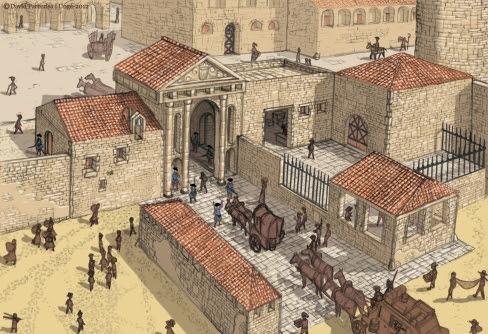 El cos de guàrdia del Portal de Mar de la muralla de Barcelona, format per membres de La Coronela.