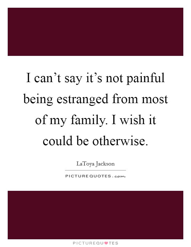 I Cant Say Its Not Painful Being Estranged From Most Of My