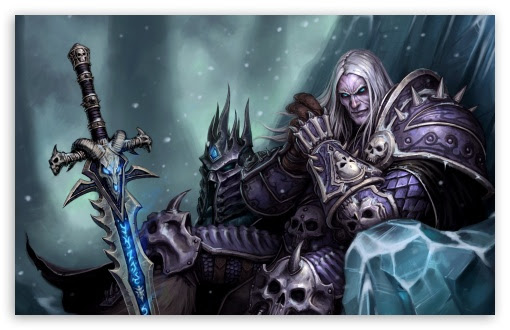 Arthas Menethil The Frozen Throne Uhd Desktop Wallpaper For