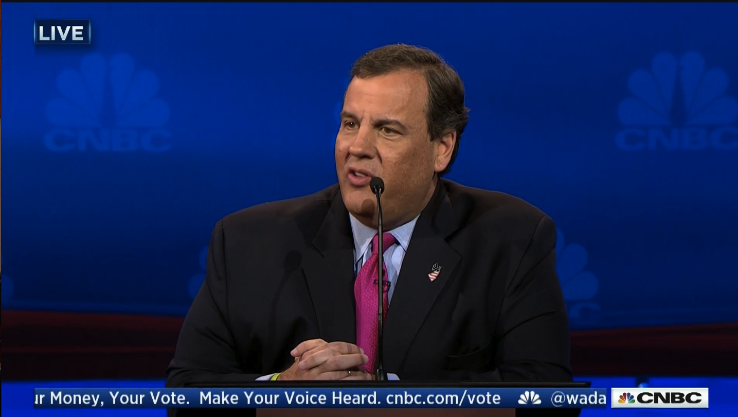 chris christie cnbc debate