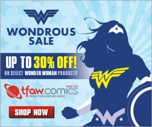 Save up to 30% of select Wonder Woman products at TFAW.com!