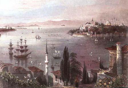 Isztambuli látkép Orhan Pamuk ablakából nézve