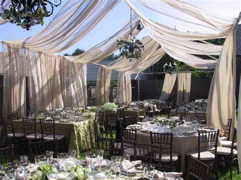Backyard Wedding Reception Ideas On A Budget   Budget