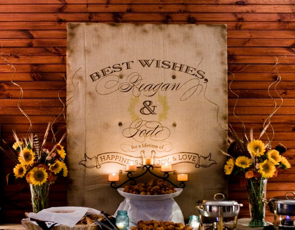 Gorgeous rustic wedding sign custom and handpainted makes a statement