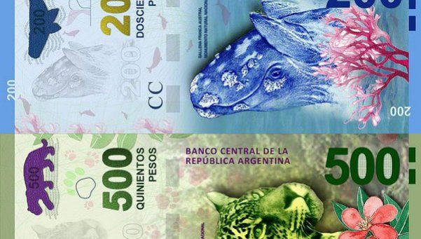 El Banco Central emitirá billetes de 200 y 500 pesos