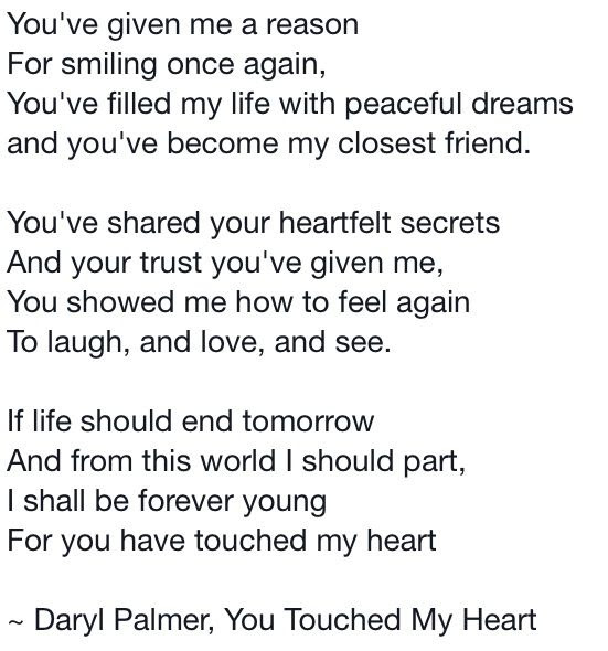 Similiar You Touched My Heart Quotes Keywords