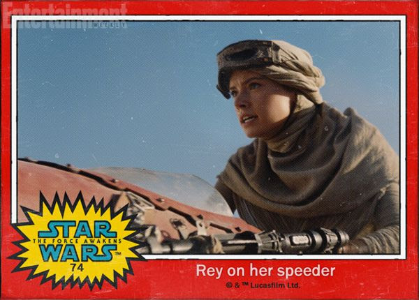 Rey (Daisy Ridley) is about to take off on her speeder in STAR WARS: THE FORCE AWAKENS.