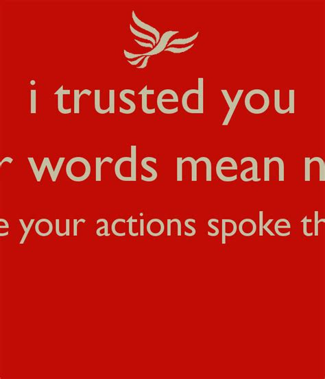 Words Mean Nothing Picture Quotes