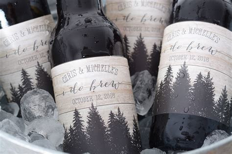 Rustic Woods   Wedding Beer Labels   LabelsRus